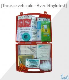 TROUSSE DE SECOURS PLEINE - AVEC éthylotest