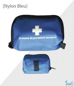 TROUSSE DE SECOURS SOUPLE 1 A 2 PERSONNES - Nylon bleu