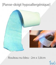 Panse-doigt Tamô Rouleau nu bleu 2 m x 3.8 cm