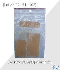 SACHETS PANSEMENTS PLASTIQUES ASSORTIS