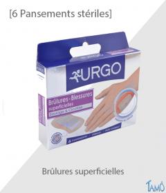 PANSEMENTS STERILES - Brûlures superficielles