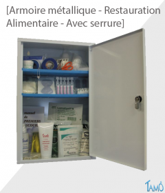 ARMOIRE METALLIQUE 1 PORTE AVEC SERRURE - RESTAURATION / ALIMENTAIRE