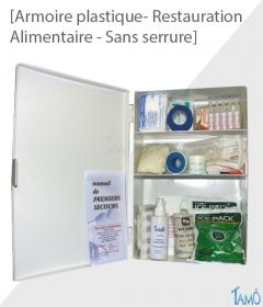 ARMOIRE PLASTIQUE 1 PORTE AVEC SERRURE - RESTAURATION / ALIMENTAIRE - PLEINE