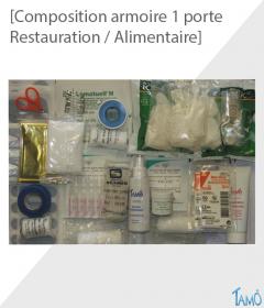 COMPOSITION POUR ARMOIRE PLASTIQUE 1 PORTE - Restauration / Alimentaire