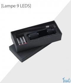 LAMPE DE POCHE LED METAL - Avec piles