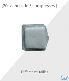 20 SACHETS DE 5 COMPRESSES - Non tissées stériles