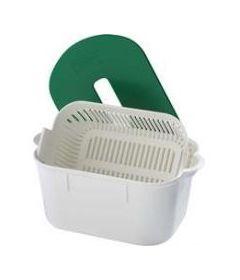 Bac de trempage 2 litres avec panier et couvercle
