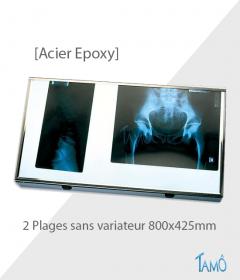 Négatoscope Acier Epoxy - 2 Plages  - Sans variateur
