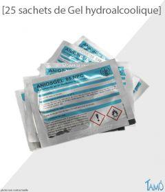 25 SACHETS DE GEL HYDROALCOOLIQUE - 3 ml