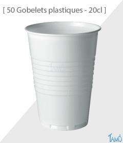 50 Gobelets plastiques 20cl