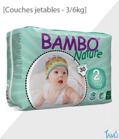 COUCHES JETABLES ECOLOGIQUES - 3/6kg