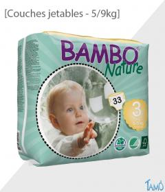 COUCHES JETABLES ECOLOGIQUES - 5/9kg