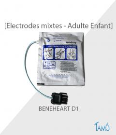 ELECTRODES MIXTES ADULTE + ENFANT - Beneheart Mindray D1