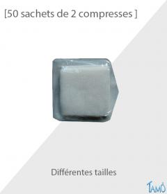 50 SACHETS DE 2 COMPRESSES - Non tissées stériles