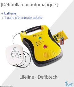 DEFIBRILLATEUR LIFELINE AUTOMATIQUE - Avec batterie, électrode adulte, guide