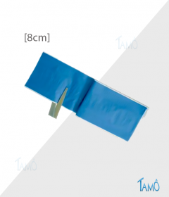 PANSEMENT DETECTABLE BLEU - ROULEAU A DECOUPER - Tissé coton - Largeur : 8cm